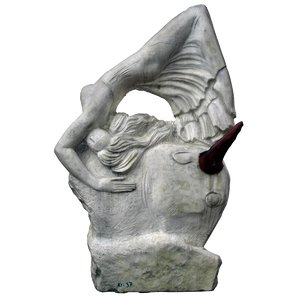 3ds bull woman statue human