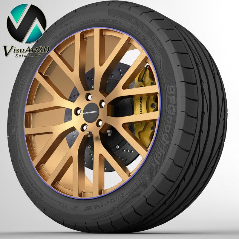 wheel camaro 3d model