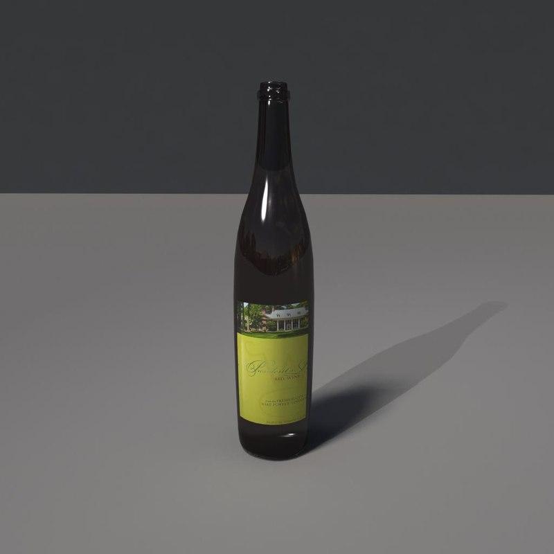 wine bottle 3d ma