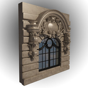 medieval window 3d 3ds