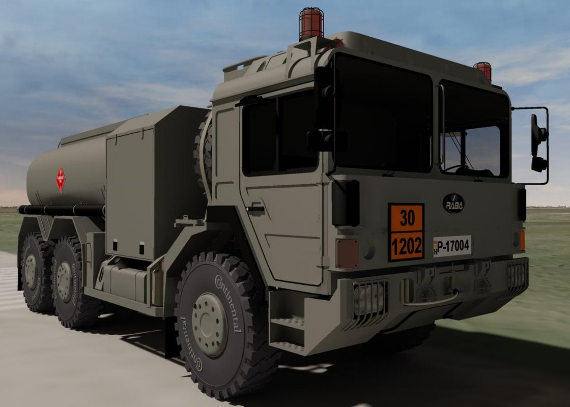 hungarian raba h25 fuel truck 3d 3ds