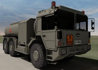 hungarian raba h25 fuel truck 3d 3ds