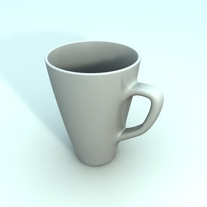 3d model cfee cup