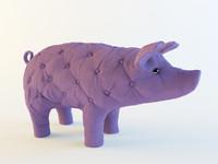 3d model pig soft