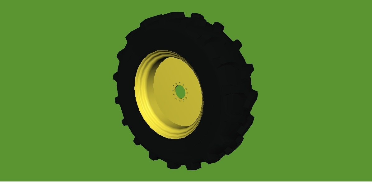 3d agricultural wheel tyre