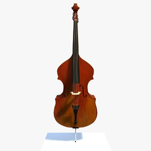 3d model matt bass musical instrument