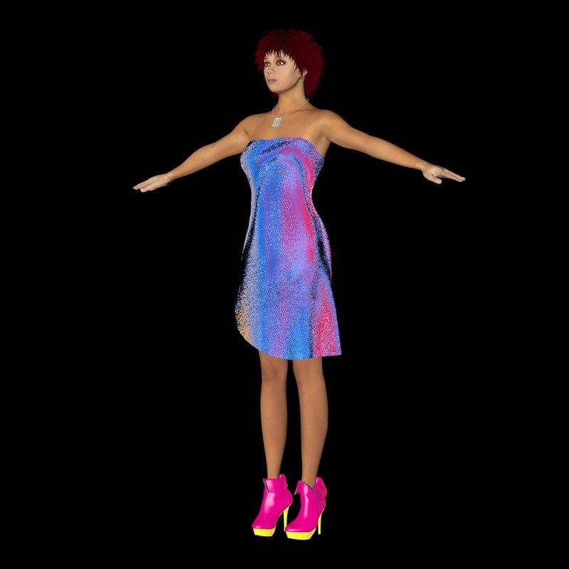 3d model female character charlotte