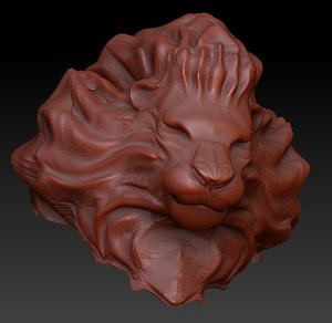 animal lion head 3d model