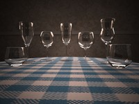 2012 wine glasses 3d 3ds