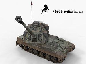tank artillery 3d model