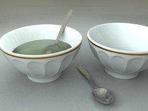 3d bowl spoon