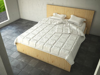 bed bedroom furniture 3d model
