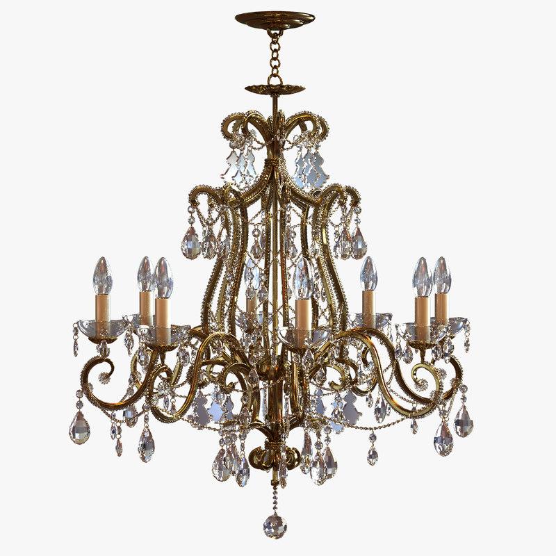 3ds max chandelier classic pendants