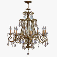 3ds max chandelier classic pendants