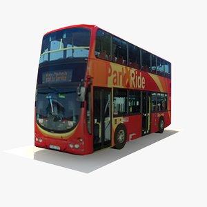 double decker london bus 3d model