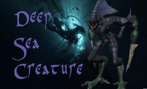 3d model of deep sea creature