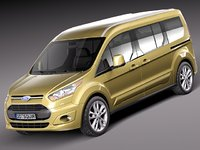 2013 2014 wagon van 3d model