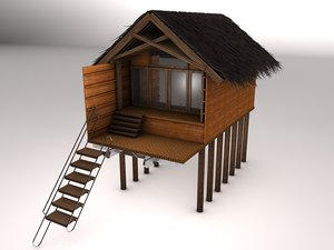3d beach hut