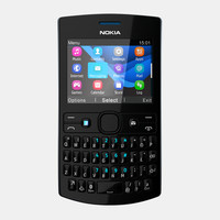 nokia asha 205 mobile phone 3d model