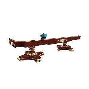 3d model orchidea dining table