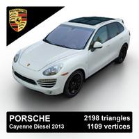 3d model 2013 porsche cayenne diesel