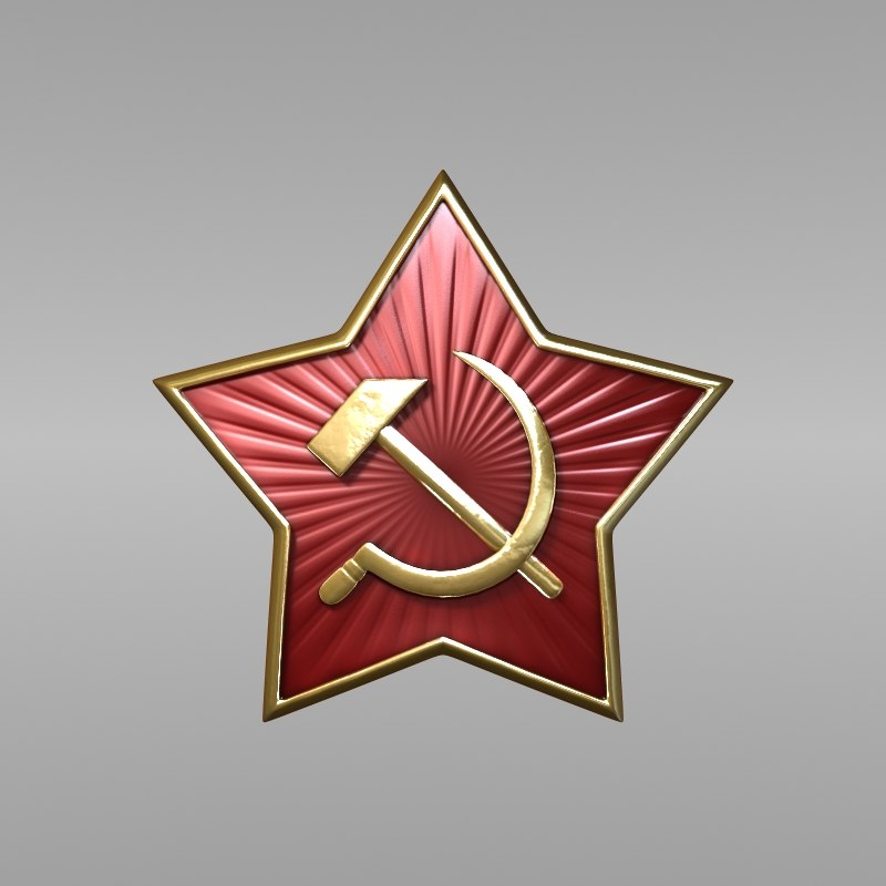 cap red star 3d lwo