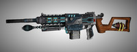 assault rifle 3d max