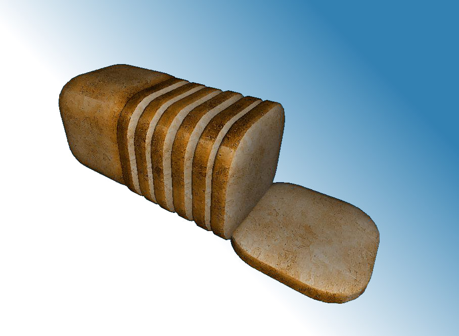 3ds max sliced boneless pork loin
