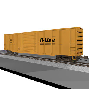 3d train car cargo model