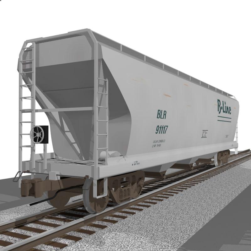 train car hopper c4d