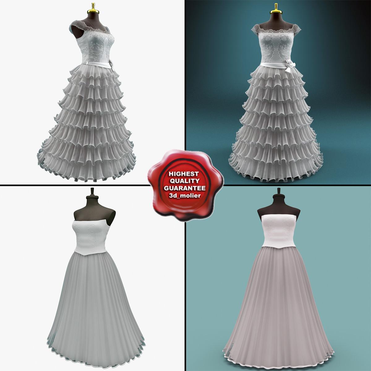 wedding dresses 3d max