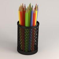 3d pencils cup