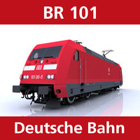 br 101 trains bahn 3d model