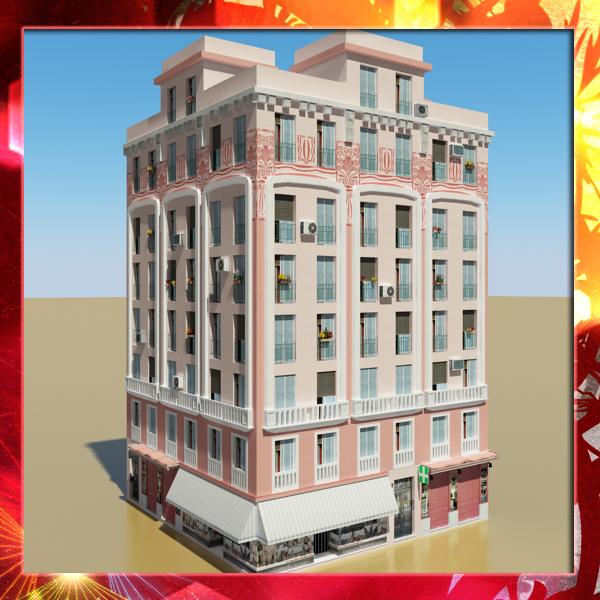 3d photorealistic building 20 model