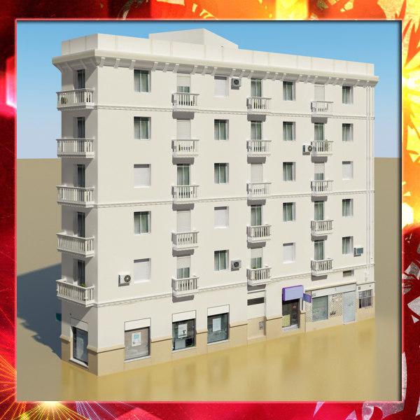 3d photorealistic building 7 model