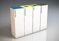 jec eco7 recycling trash bin 3d max