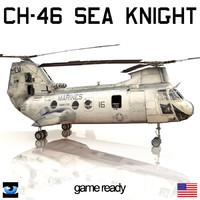 3d ch-46 sea knight