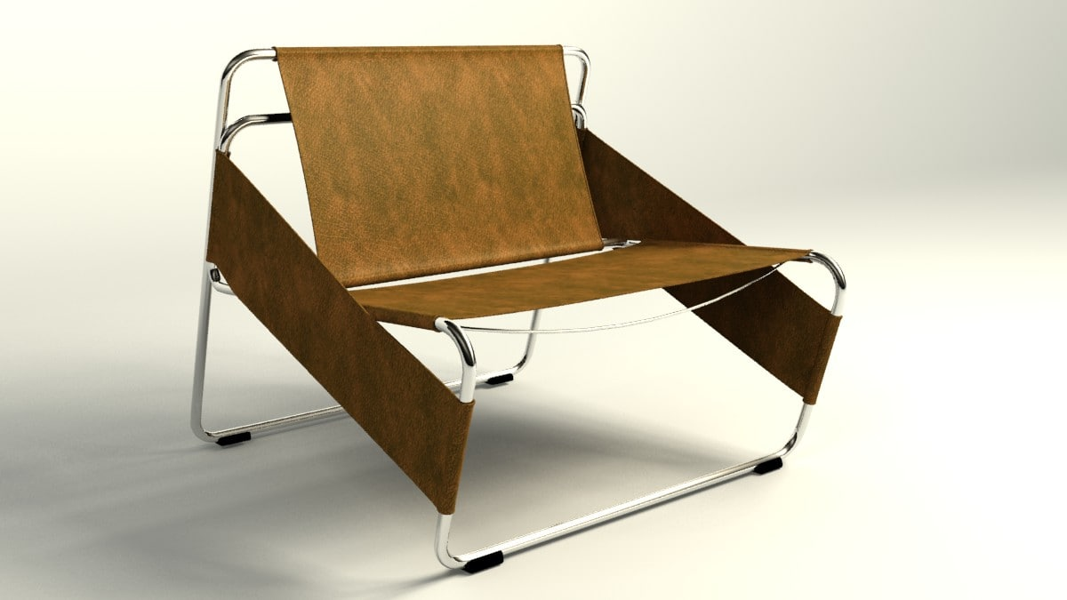 armchair uncollapsed 3d max