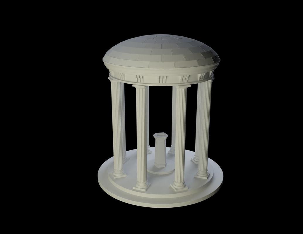 3d unc fountain model