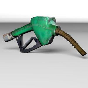 gas nozzle 3d fbx