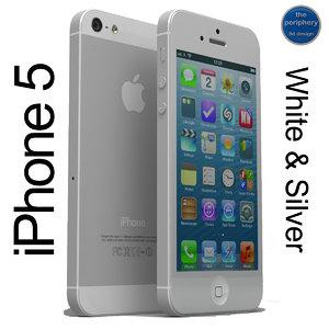 3d model apple iphone 5 white