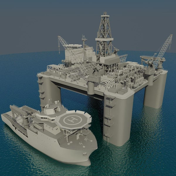 3d oil platform multipurpose sup model