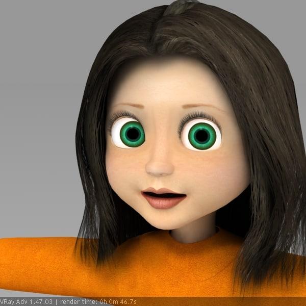 3d model little girl