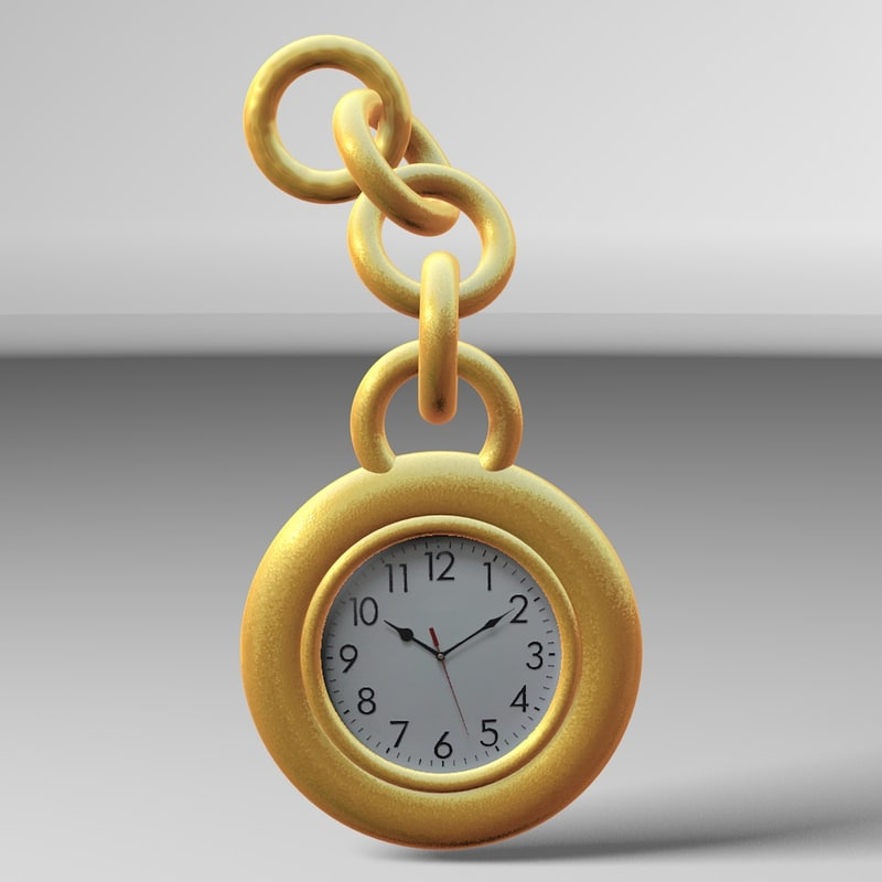 3d model of pocket watch