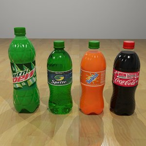 plastic soda pop bottles 3ds