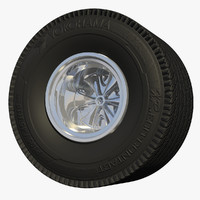 3d race car wheel tire model