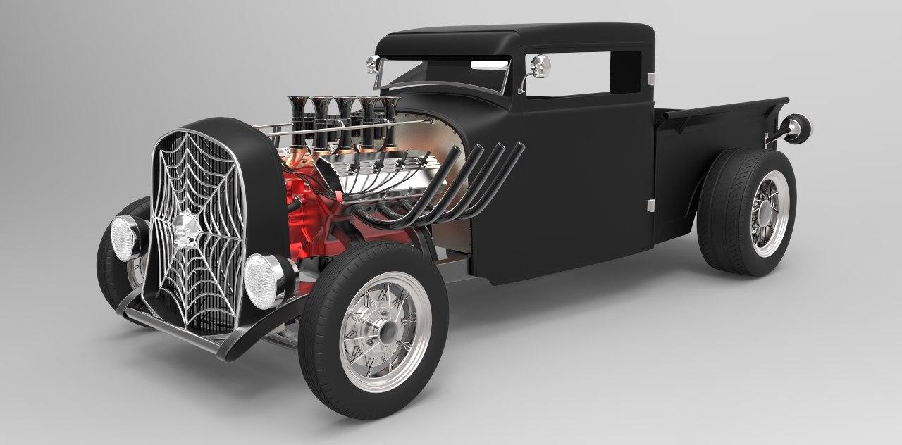 black widow concept car model