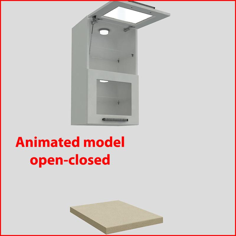 kitchen furnitures 45 cm 3d model