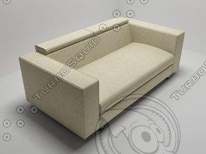 3d modern sofa gerry bodema model