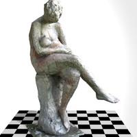 woman child sculpture man 3d 3ds
